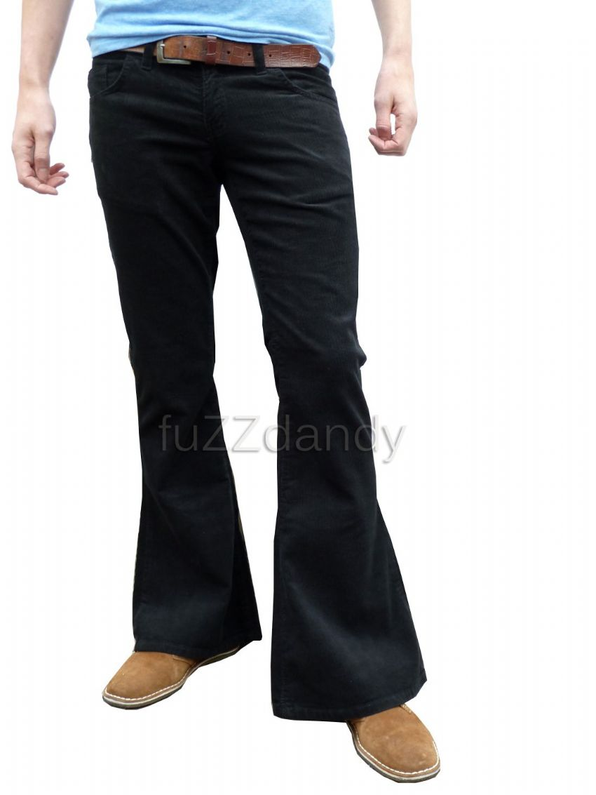 """Classic Cord Flare"" Corduroy Bell Bottom Flares (Black), best flares in the world. Bell Bottoms."